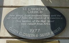 Photo of St. Lawrence Church stone plaque