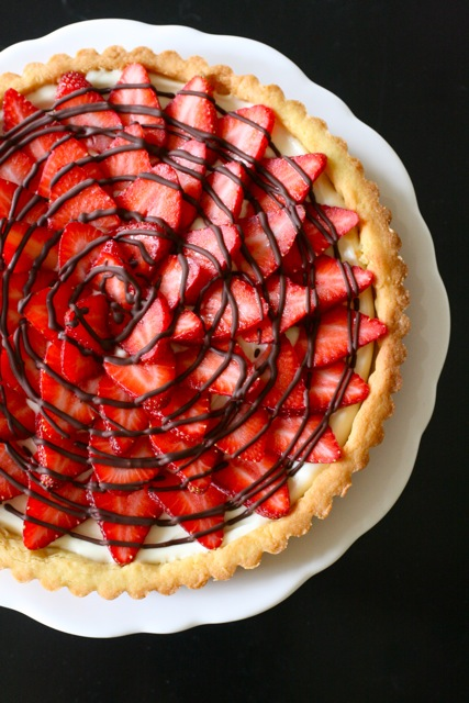 Strawberry Cream Cheese Tart | Annie's Eats
