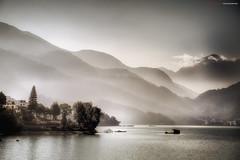 The beauty of mountains and water (kolojo) Tags: bw lake landscape nikon taiwan   naturepoetry nikond700