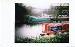 Dreamy Canal (Teeny Blondini) Tags: colour polaroid canal doubleexposure instant dianaf instantback teenyblondini