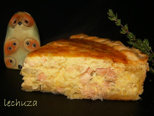 Tarta de salmón-porcion 1