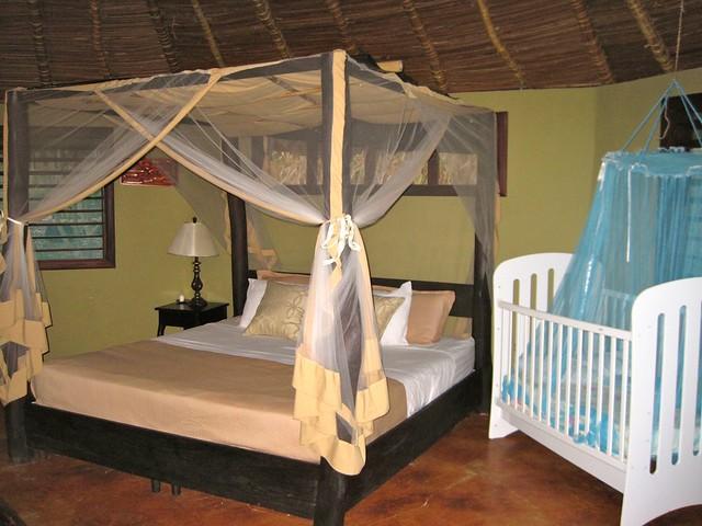 luxury bedroom in a eco hotel in nicaragua