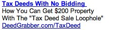 PPC Ad #2 - Tax Deed Sale