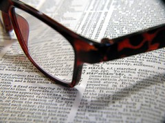 cheaters (frankieleon) Tags: reading glasses book words interestingness interesting bestof literature cc creativecommons popular dictionary frankieleon cheaterglasses
