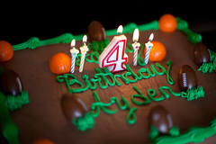 Ayden's birthday cake (Sizu24) Tags: birthday food brown green sports basketball cake dessert happy four photography football candles chocolate 4 50mm14 icing canon5dmarkii
