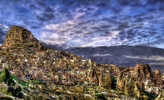 Cappadocia (Uhisar Castle from pigeon valley) Uhisar /Nevehir/Turkey (painter&draftsman) Tags: turkey trkiye cappadocia kapadokya nevehir uhisar thebestofday gnneniyisi
