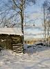 20101114_10203b (Fantasyfan.) Tags: blue winter sky snow sunshine topv111 tag3 taggedout countryside tag2 tag1 hut siikajoki fantasyfanin oulunlääni siirretty