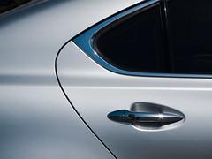 Luxurious (Chicken) Tags: door usa abstract reflection lines car silver design washington highlights chrome transportation redmond toyota ls lexus luxurious sunstar ls11 ls460