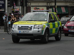 London Ambulance Service | Land Rover Freelander | Rapid Response Vehicle | LJ10 FLH (EmergencyVehiclePics1) Tags: new las blue london car race hospital lights mercedes pier video amazing call respect bell fast run ambulance led yelp leds shape brand siren iveco callout shout 999 wail on the officers bullhorn twotone lifesavers zafira sprinter strobes airhorn rrv