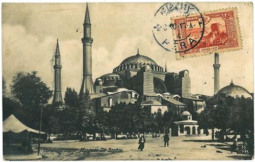 Istanbul, Mosquée Sainte-Sophie, 1920