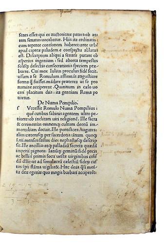 Manuscript annotations in Florus, Lucius Annaeus: Epitomae rerum Romanarum