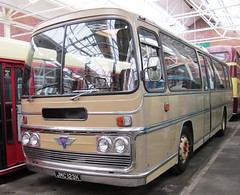 Plaxton bodied AEC Reliance JMC123K at North West Museum of Road Transport 20 March 2011 (IslandYorkie) Tags: buses sthelens coaches singledeckers aecreliance preservedbuses heritagebuses aecbuses northwestmuseumofroadtransport plaxtonbody busesinthenorthofengland busesinpreservation jmc123k busesinmerseyside