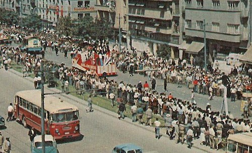 Ankara,  défilé sur le boulevard Atatürk - détail