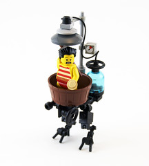 Lord Blithington's Revolutionary Bipedal Bathing Machine (Titolian) Tags: table punk lego machine lord steam bathing revolutionary scrap bipedal steampunk blithington