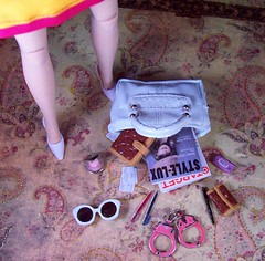 Tagged by 'mimimaus' and 'Dollies'- What's in your doll's bag? (partymonstrrrr) Tags: sunglasses pen bag toy toys coach doll dolls day wallet barbie cellphone purse lipstick pens rement chanel basics planner handcuffs parkavenue integrity flauntit monsieurz targetexclusive yukostevens