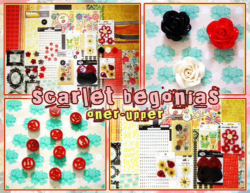 *Scarlet Begonias Oner Upper* Collage