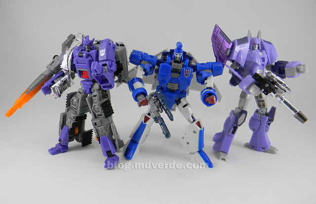 Transformers Scourge Generations - modo robot vs Galvatron vs Cyclonus