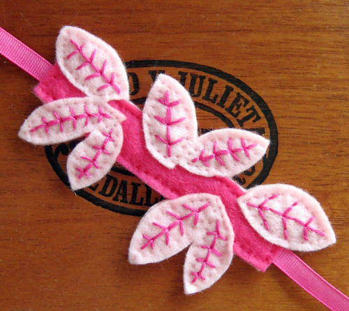 Pink leaf cuff bracelet