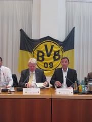 Impression von der Pressekonferenz zur Meisterfeier von Borussia Dortmund (BVB)