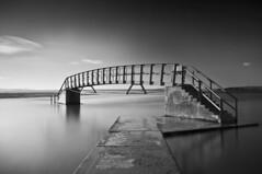 Belhaven Bridge (Grant_R) Tags: longexposure bridge blackandwhite bw beach monochrome mono coastal northsea dunbar hightide belhaven eastlothian bridgetonowhere heliopan nd30 grantr belhavenbridge 10stopper