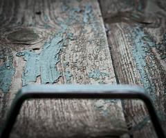 Got a handle (Tom Bech) Tags: door wood metal wooden peeling paint dof neglected cyan peelingpaint