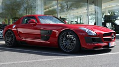 Brabus SLS B 63 S (Niklas Emmerich Photography) Tags: red black germany mercedes benz hp 63 sls amg brabus bottrop 2011 571 worldcars