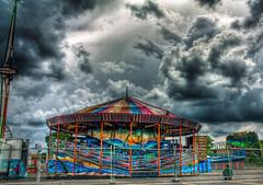 Can we go? (pixelsindistress) Tags: carnival colors rain clouds canon lights pa 1855 hdr lightroom photomatix rebelxs 7exp langhornepa pixelsindistress