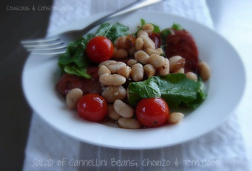 Salad of Cannellini Beans, Chorizo & Tomatoes 1