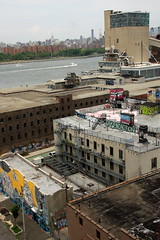 dominating the waterfront (Luna Park) Tags: nyc bridge ny newyork rooftop brooklyn boats graffiti goal factory celso manhattan nuria sugar eastriver williamsburg cs lunapark how domino hellbent bak rusk roa atlarge nosm aones elcelso sweetoof phuzeiv tagssmells