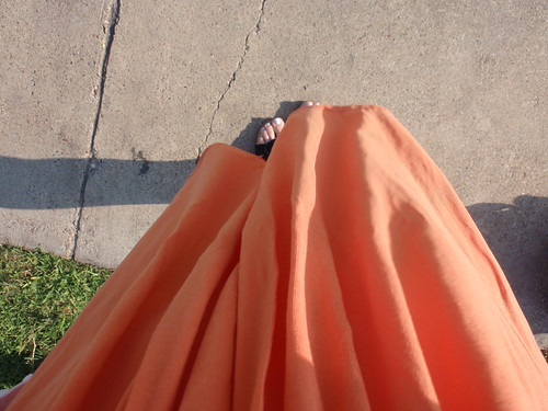 New Dress or Me Dressed as a Creamsicle