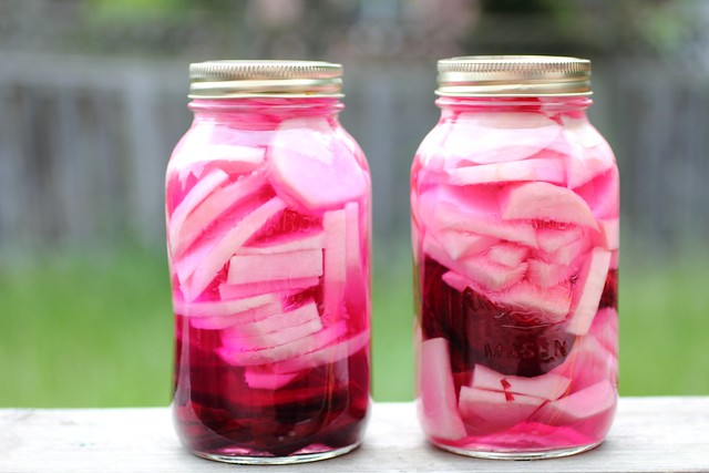 Pickled turnip and beet