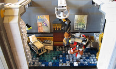 Doctors Office Full (Imagine) Tags: tower architecture airplane toys lego billboard artdeco rapture littlesister bigdaddy moc watercity bioshock lifelites imaginerigney brickworld2011