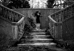 *** (Victoria Yarlikova) Tags: old abstract abandoned monochrome vintage myself movement long exposure moody decay ghost villa dreamy