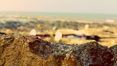 Limitless (Soedhier) Tags: old sea india blur macro rock stone landscape focus rocks stones antique sony smartphone hd mumbai xperiat