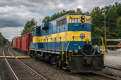 Campbell Hall Switching (Nick Gagliardi) Tags: train trains railroad new york southern tier campbell hall graham line port jervis branch middletown jersey gp9 emd diesel road switcher freight