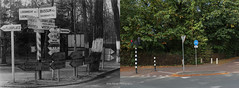 Hilversum then and now (Ide Nauta photography) Tags: then now thenandnow 1940 1945 2016 hilversum blackandwhite thenandnowphotography photography world war two germans