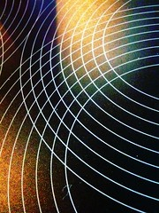 Radiating Circle Grid iPhone Wallpaper