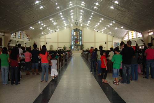 Mass was ongoing.