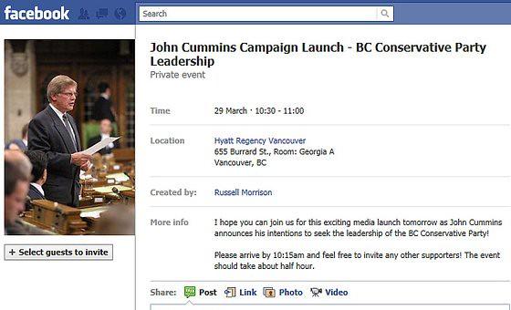 John Cummins launches leadership bid