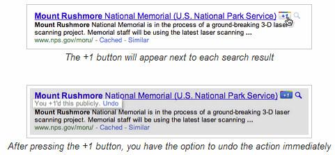 Google's +1button