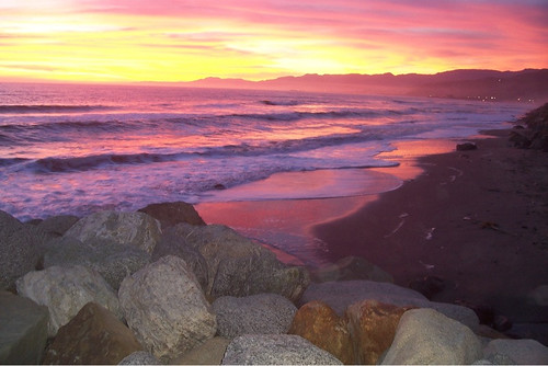 Sunset Faria Beach 3/30/11