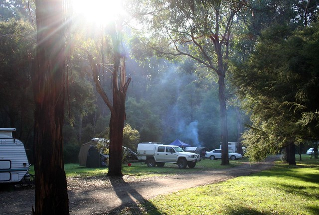 camp ground at sennis reserve