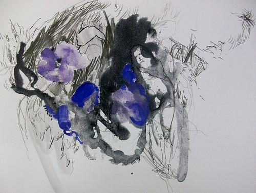 Mujer y flor malva by cardesin