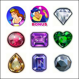 free Princess Jewels slot game symbols