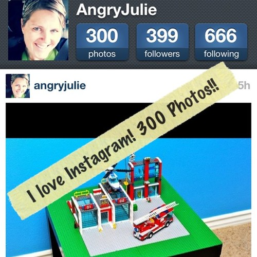 Project 365 94/365: 300 photos, 399 followers, 666 people I'm following. Love @Instagram.