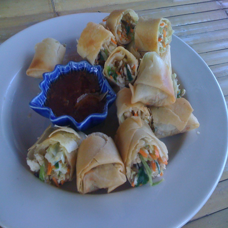 Make-Your-Own Thai Spring Rolls @ Ao Nang Thai Cookery School