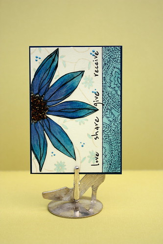 ATC flower by newkidfish (Cathy A)
