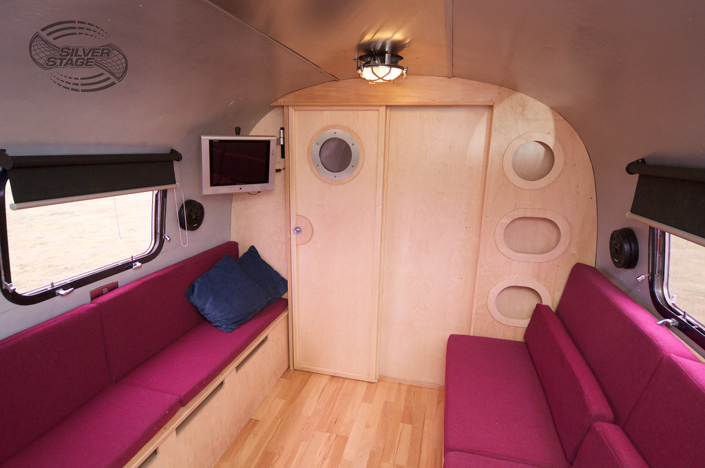 Airstream 4 Sofa Beds / Bathroom Door