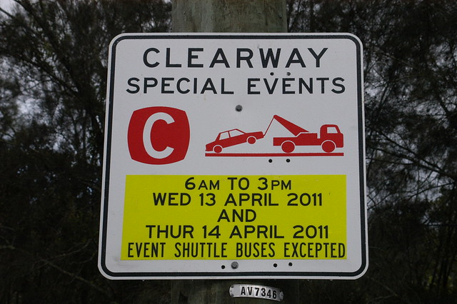 ex-HMAS adelaide Clearway sign