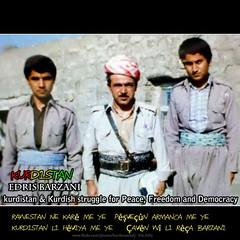 Edris Barzani (hamisha zindo) 1986 (Kurdistan Photo ) Tags: freedom democracy peace iran iraq syria fighters genocide kurdistan barzani kurd anfal barzan  peshmerge  krdistan  pmerge